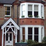Restored bay sash windows in Ealing